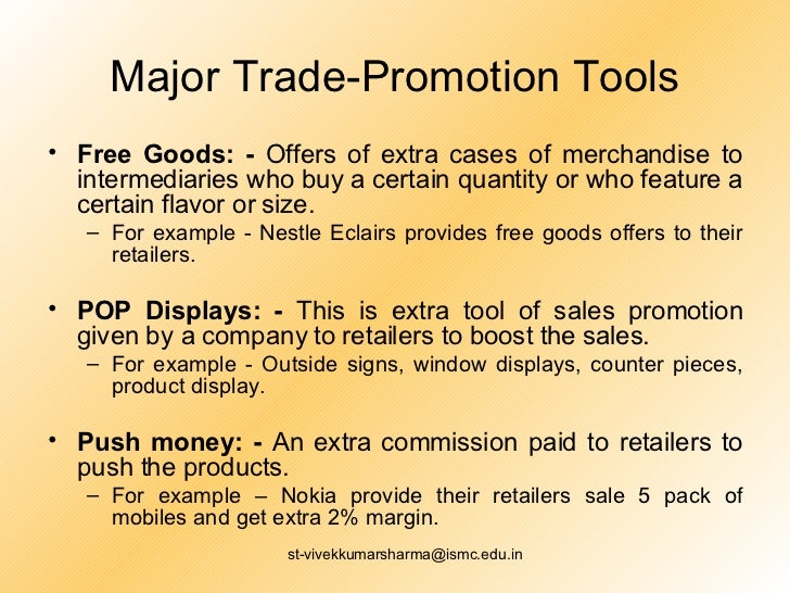 trade promotion tools with examples