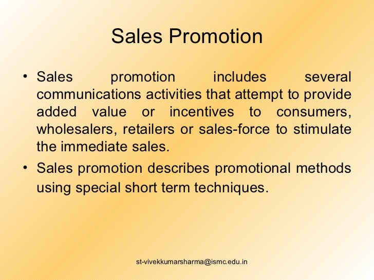 Several Types Of Promotion