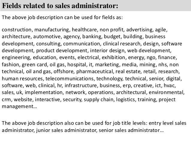 sales administrator job description