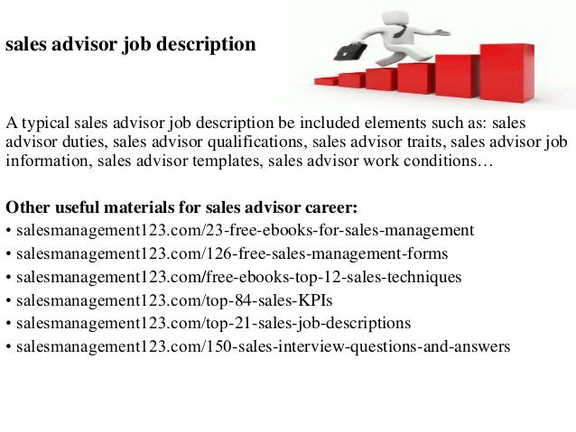 Job Types According to our data, in percentages, these are the top job types available for sales advisor. Categories According to our data, by number of offers, these are .