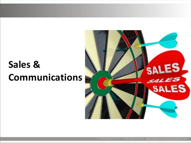 Sales and communications Slide 2