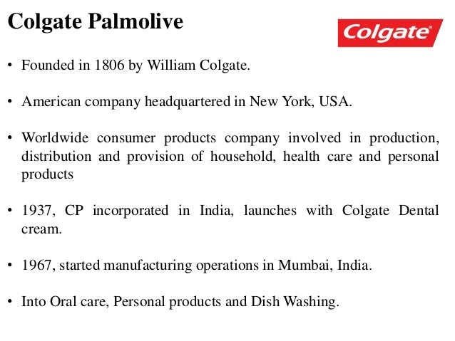 sales distribution of colgate Procter & gamble: crest toothpaste  colgate-palmolive generates sales of us$10 billion annually  distribution data from ac nielsen.