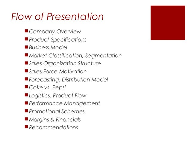 sales and distribution management at coca cola
