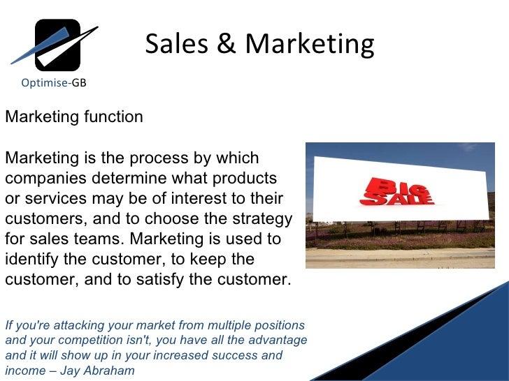 Sales and marketing Slide 3