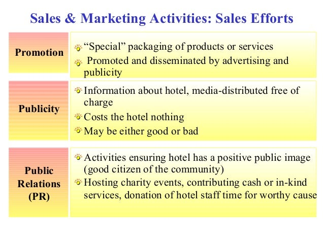 sales and marketing in hotel industry pdf