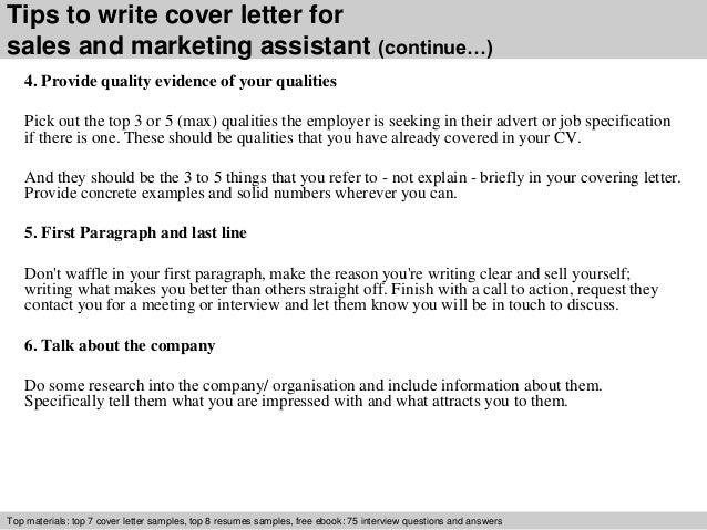 cover letter marketing