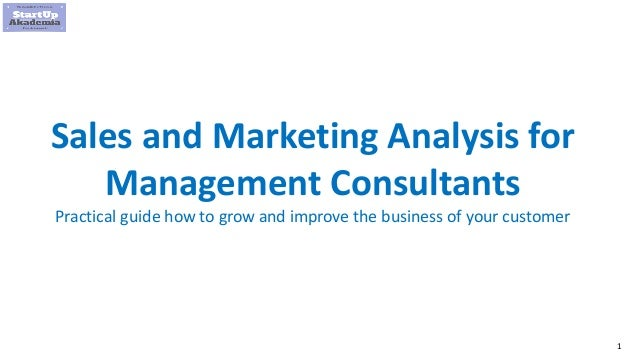 1 Sales and Marketing Analysis for Management Consultants Practical guide how to grow and improve the business of your cus...