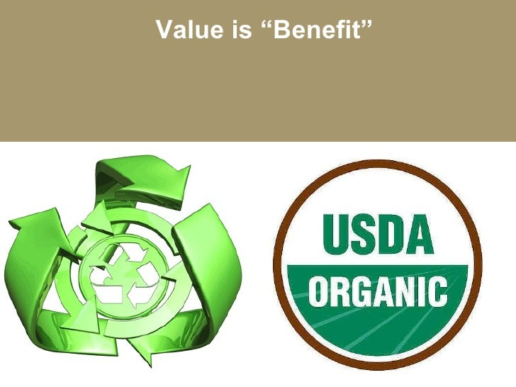 """Value is """"Benefit"""""""