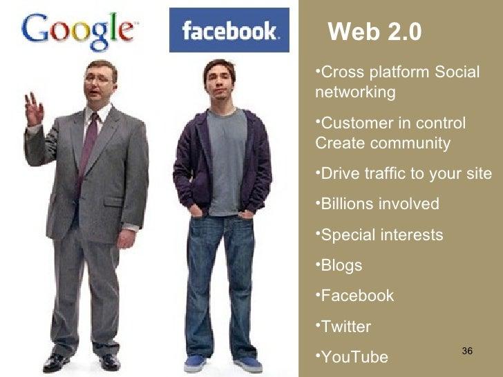 Web 2.0 <ul><li>Cross platform Social networking </li></ul><ul><li>Customer in control   Create community </li></ul><ul><l...