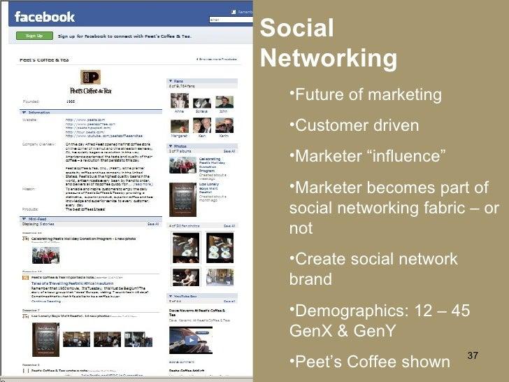 """Social Networking <ul><li>Future of marketing </li></ul><ul><li>Customer driven </li></ul><ul><li>Marketer """"influence"""" </l..."""