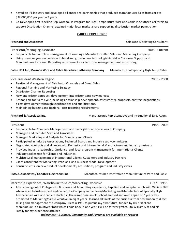 Sales And Marketing Resume | Sales And Marketing Management Resume