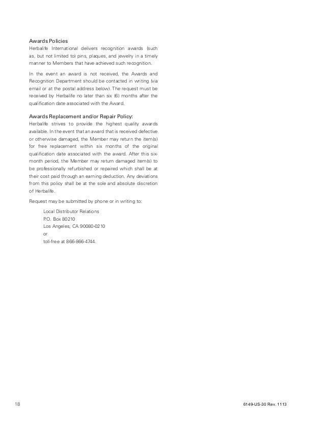 herbalife distributor relations number