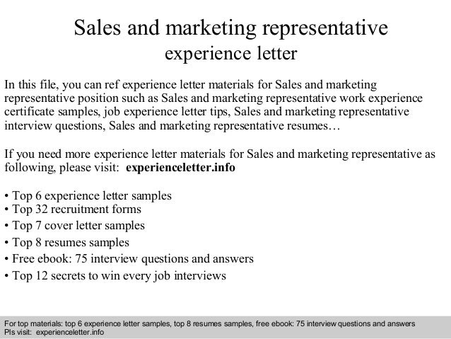 cover letter example for sales representative