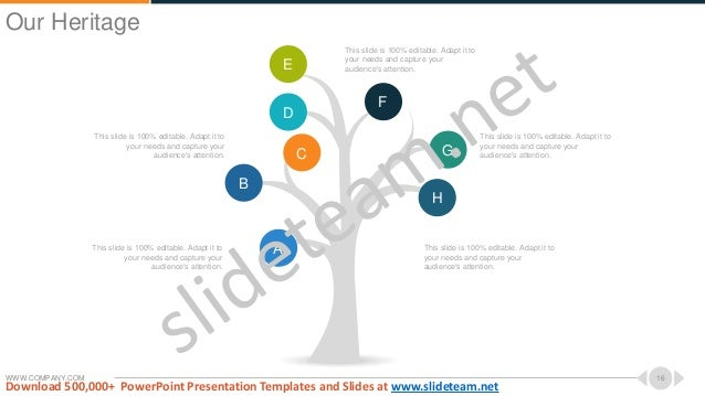 WWW.COMPANY.COM 16 A B C D E F G H This slide is 100% editable. Adapt it to your needs and capture your audience's attenti...