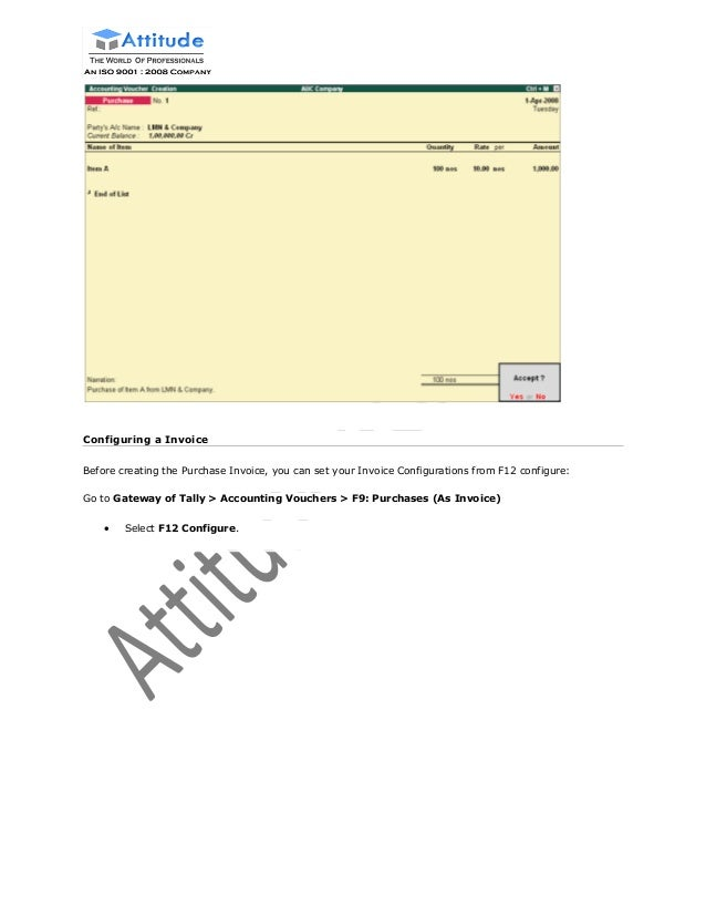 sales and purchase invoice