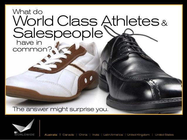 What do  World Class Athletes & Salespeople have in common?  The answer might surprise you.  Australia | Canada | China | ...