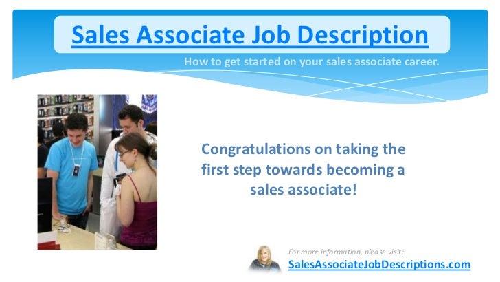 store associate job description