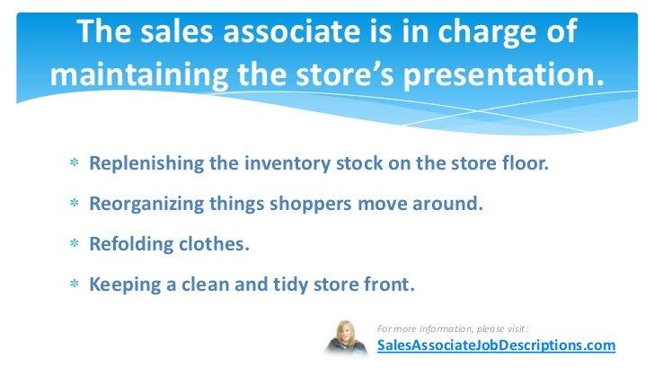 ... 9. The Sales Associate ...