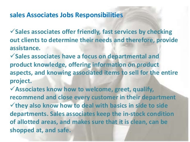 sales associate duties and responsibilities