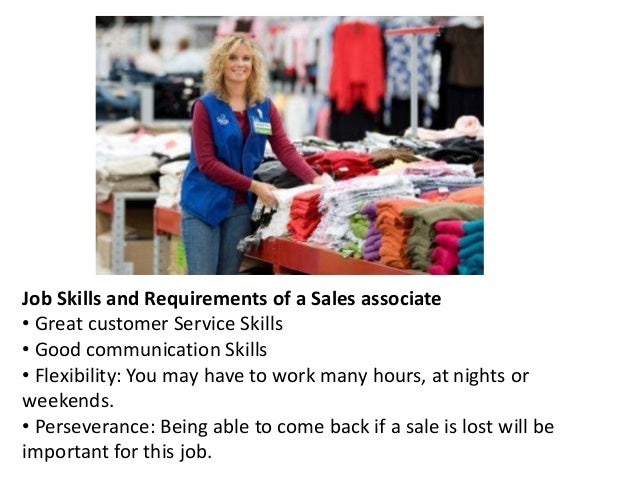 5. Job Skills And Requirements Of A Sales Associate ...  Sales Associate