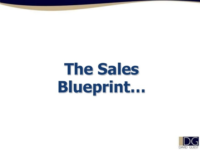 The Sales Blueprint…