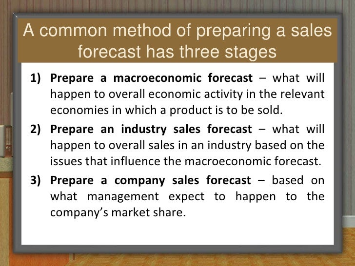 sales forecasting budget and control Sales forecasting in the demand  before you get a data model to measure and control the forecasting  the real issue is that the budget number was based on last.