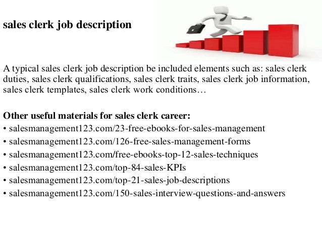 Sales Clerk Job Description A Typical Sales Clerk Job Description Be  Included Elements Such As: ...