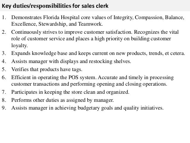 list of responsibilities for resume
