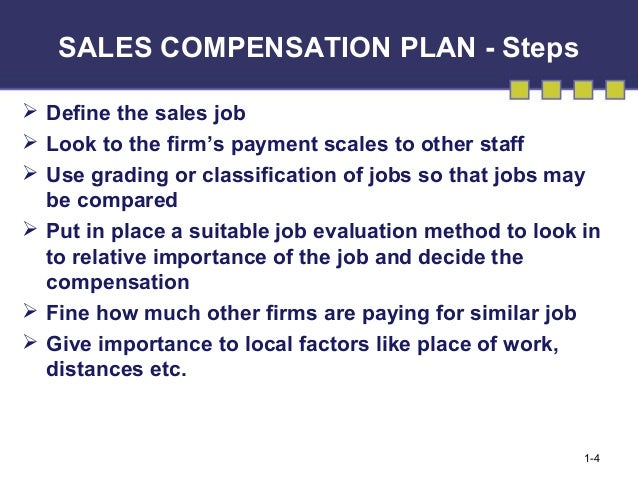 sales commissions plan