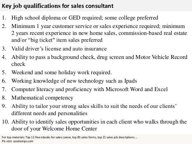Pls Visit: Azsalestips.com; 3. Key Job Qualifications For Sales Consultant  ...