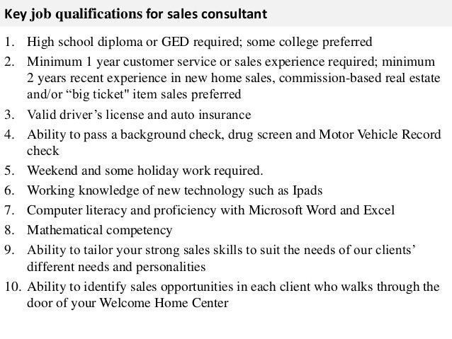 Lovely ... Correct Pricing; 3. Key Job Qualifications For Sales Consultant ...
