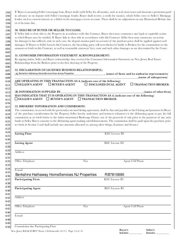 Sales Contract Form