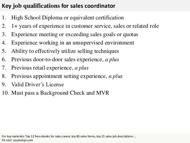 Sales Coordinator