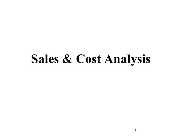 Sales & Cost Analysis                  1