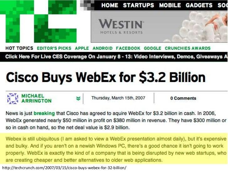 SalesCrunch's Tender Offer to Acquire Webex