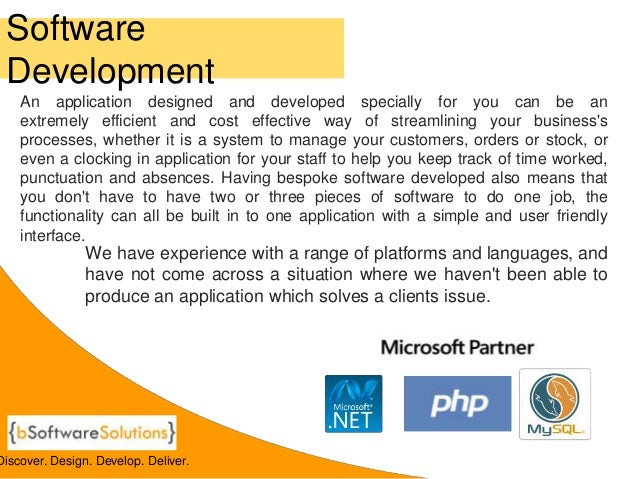 bSoftware Solutions Company Brochure