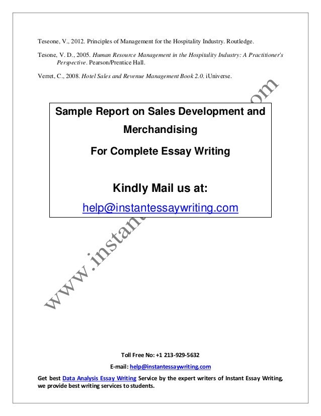 sample report on s development and merchandising by instant essay 18