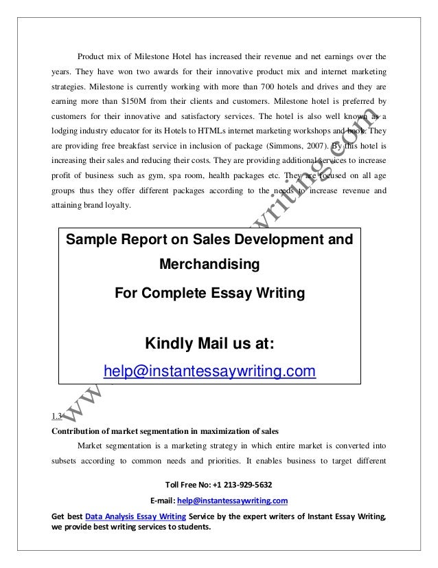 sample report on s development and merchandising by instant essay 6