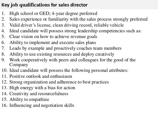 Sales director job description – Sales Director Job Description