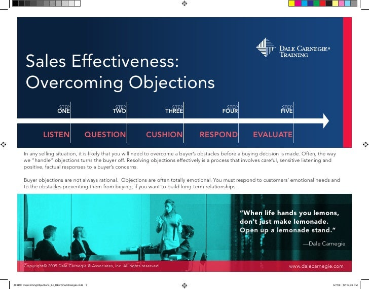 Sales Effectiveness:Overcoming Objections                 STEP                         STEP                      STEP     ...