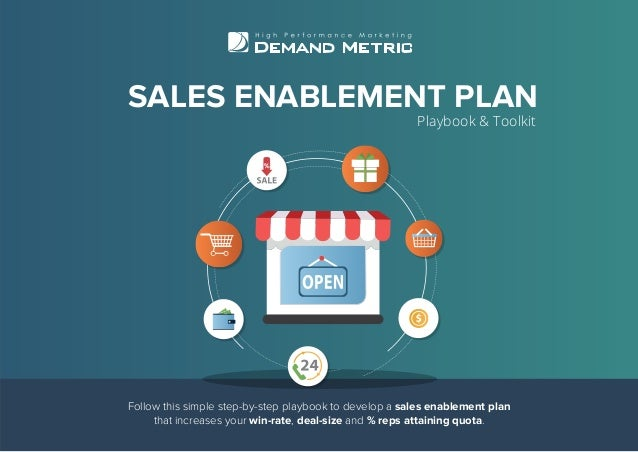 SALES ENABLEMENT PLAN Playbook & Toolkit Follow this simple step-by-step playbook to develop a sales enablement plan that ...