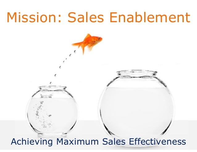 Mission: Sales Enablement Achieving Maximum Sales Effectiveness