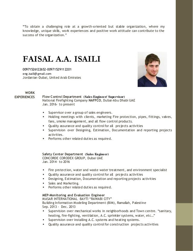 Sales engineer supervisor-faisal isaili