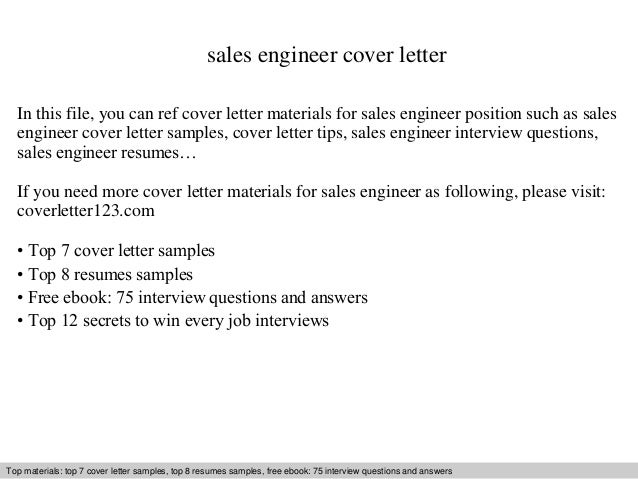 sales engineer cover letters - Elim.carpentersdaughter.co