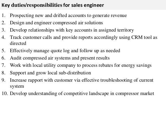Sales engineer job description