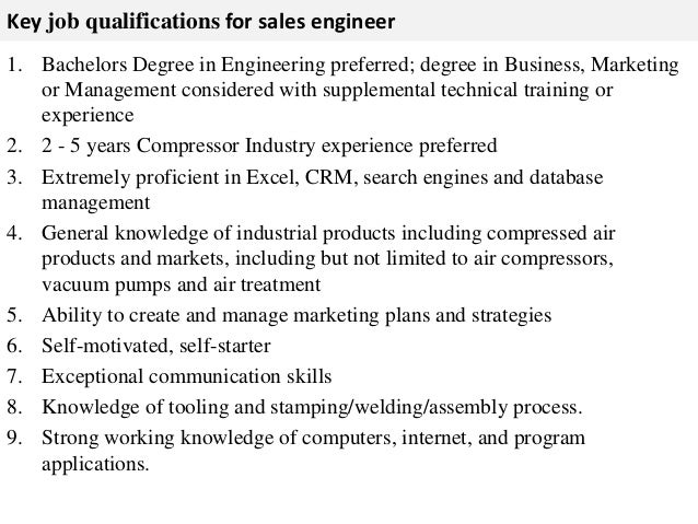 Engineer Job Description Develop Understanding Of Competitive