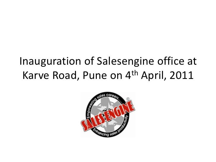 Inauguration of Salesengine office at Karve Road, Pune on 4th April, 2011<br />