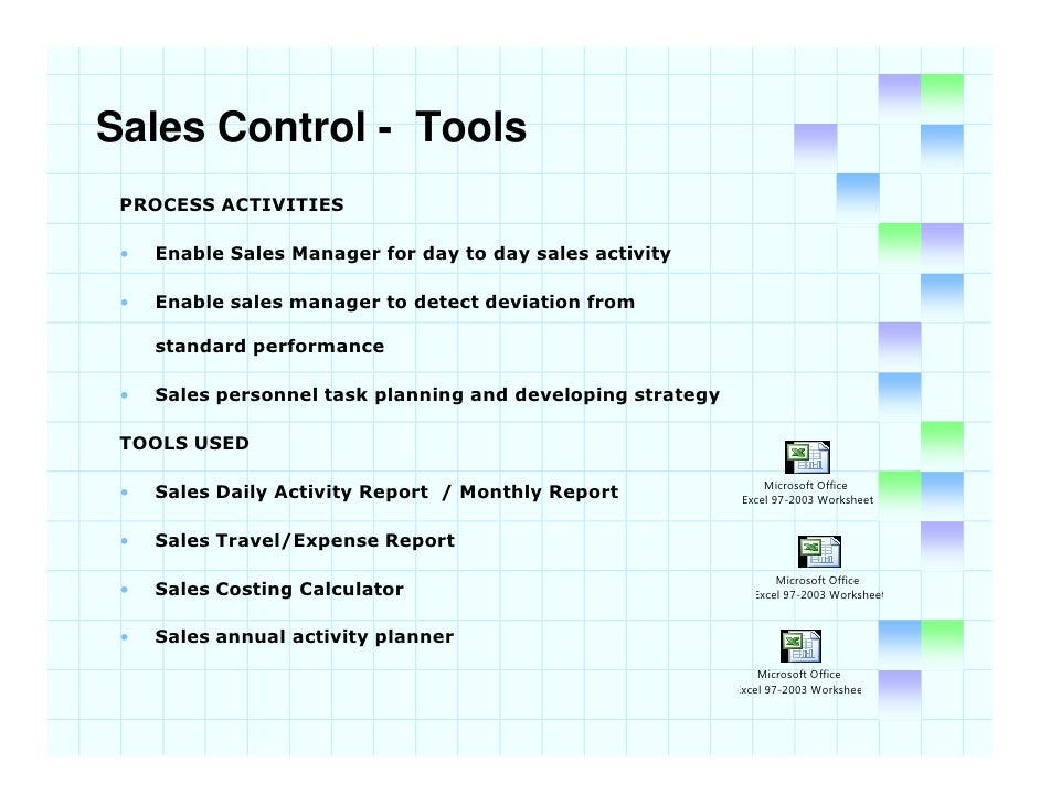 sales evaluation and control