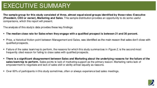 executive summary poor communication between management Good and poor examples of executive summaries  and inventory management  this is a poor example of an executive summary from a marketing assignment.