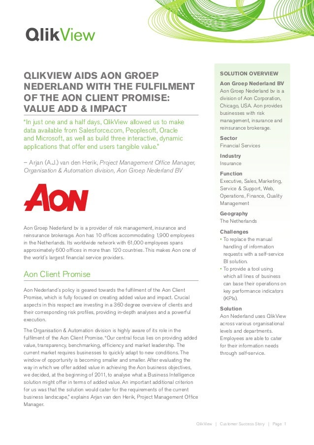 QLIKVIEW AIDS AON GROEP                                                                   SOLUTION OVERVIEW               ...